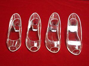 オープントゥのガラスの靴